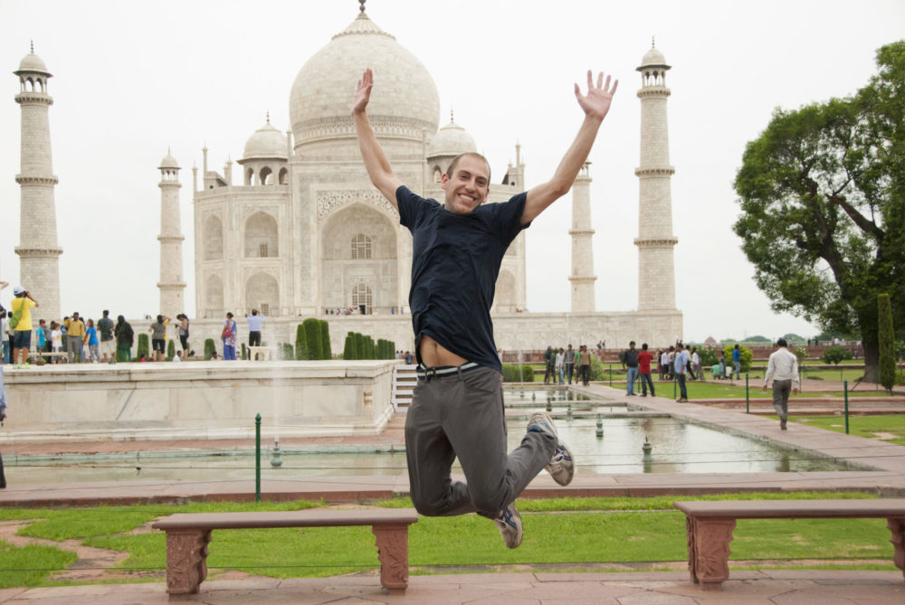 Matt jumping at the Taj Mahal 2009-2013 #jump