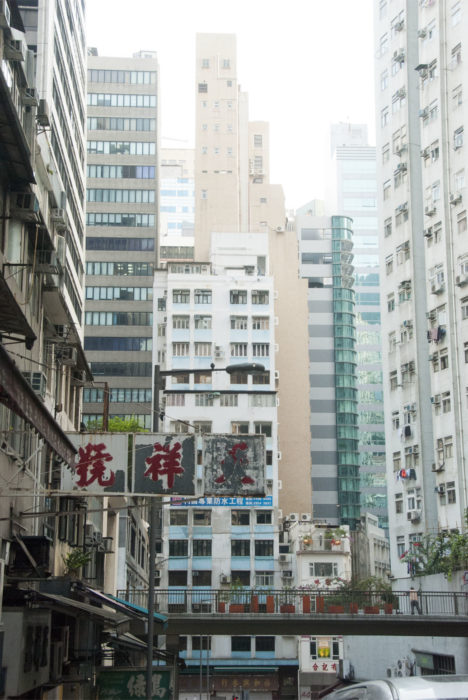 Making our way to the markets in Wan Chai