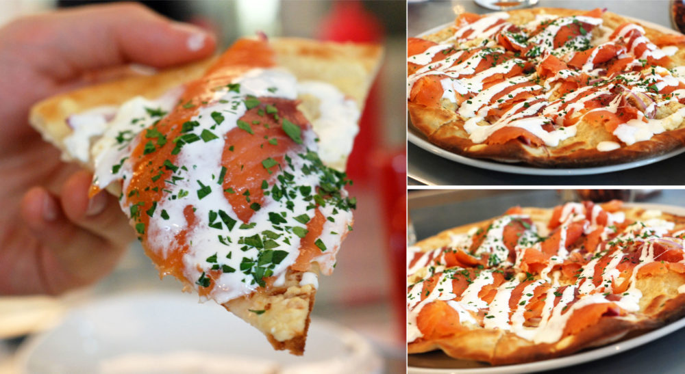 oh and you know...some Salmon flatbread nomnom
