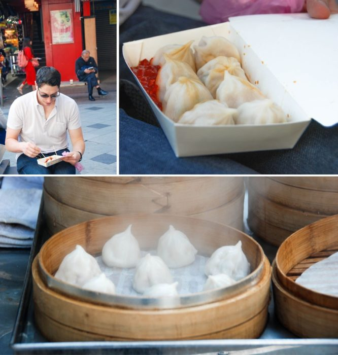 Ben's soup dumplings I tried to eat them but only got two. Looking back for the $1 price I could've gone back...