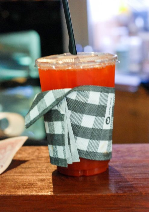 Our cozy wrapped ice tea