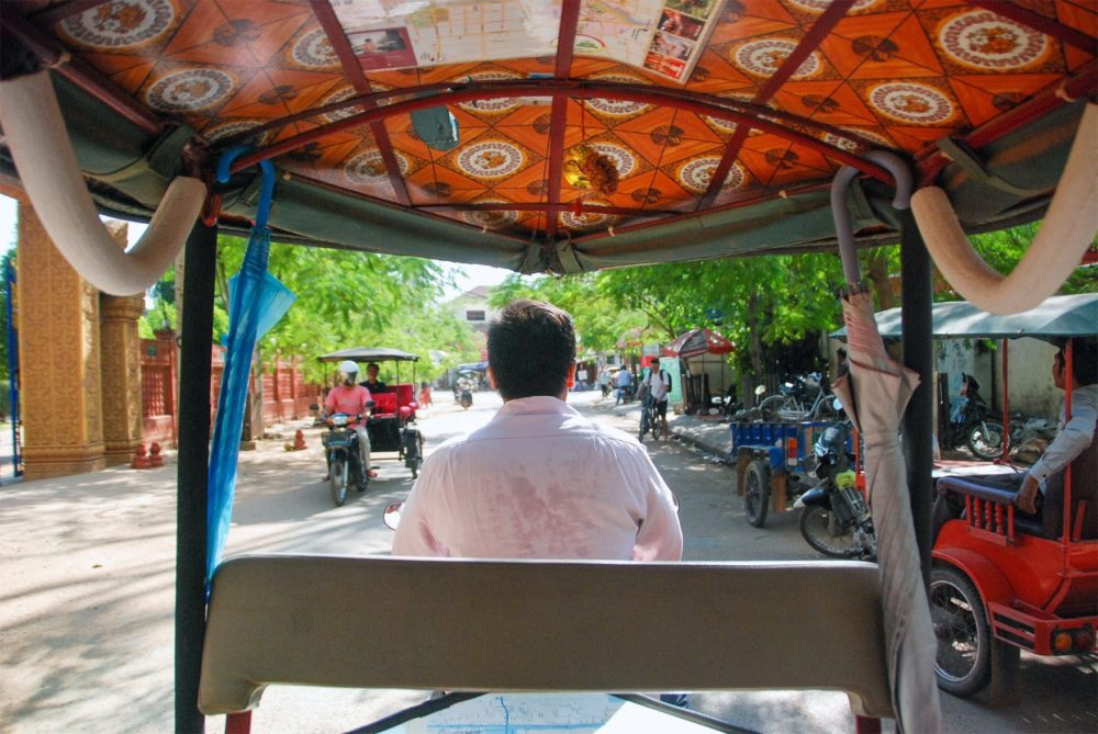 Before we went we took a tuk tuk downtown