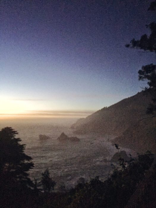 Walked down to McWay Falls to see the waterfall