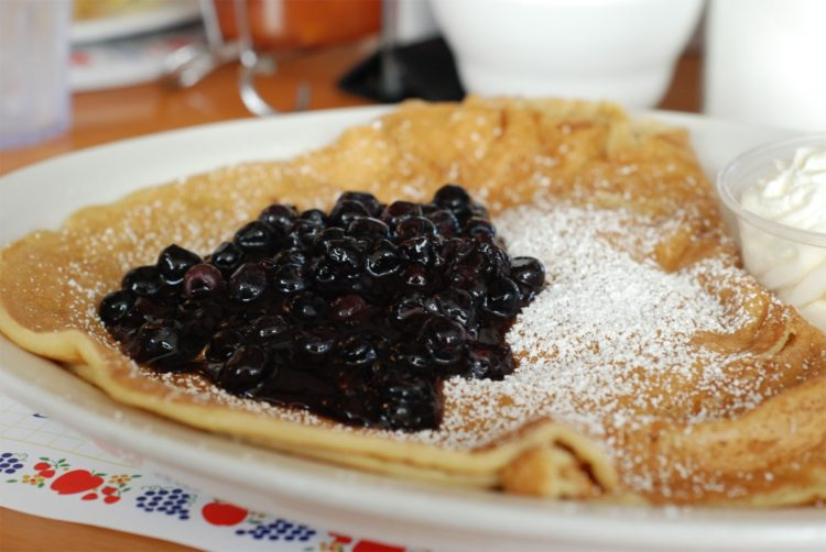 I opted for blueberry topped Danish pancakes