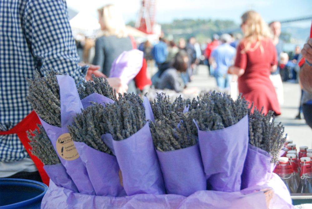 One of my favorite stands at the Farmer's Market, the lavender stand