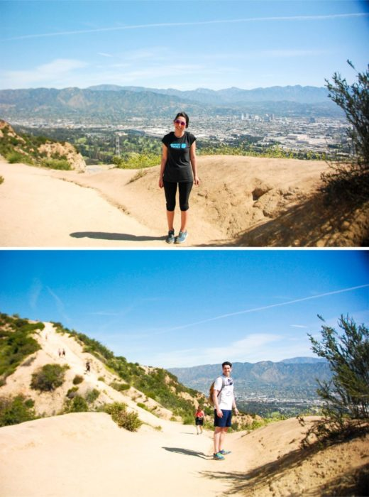 The hike began, it was pretty hot but well worth it.