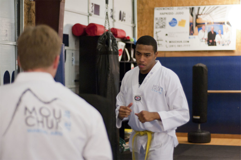 Serious students pre-sparring