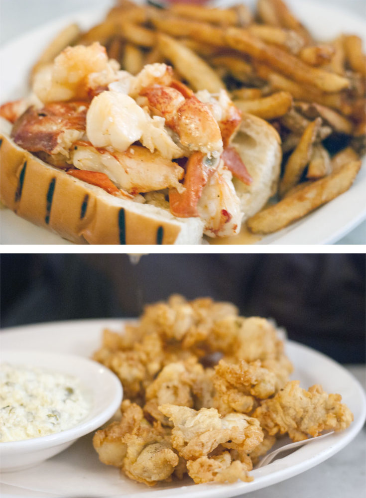Lobster Roll w/ hot butter + Fried Clams