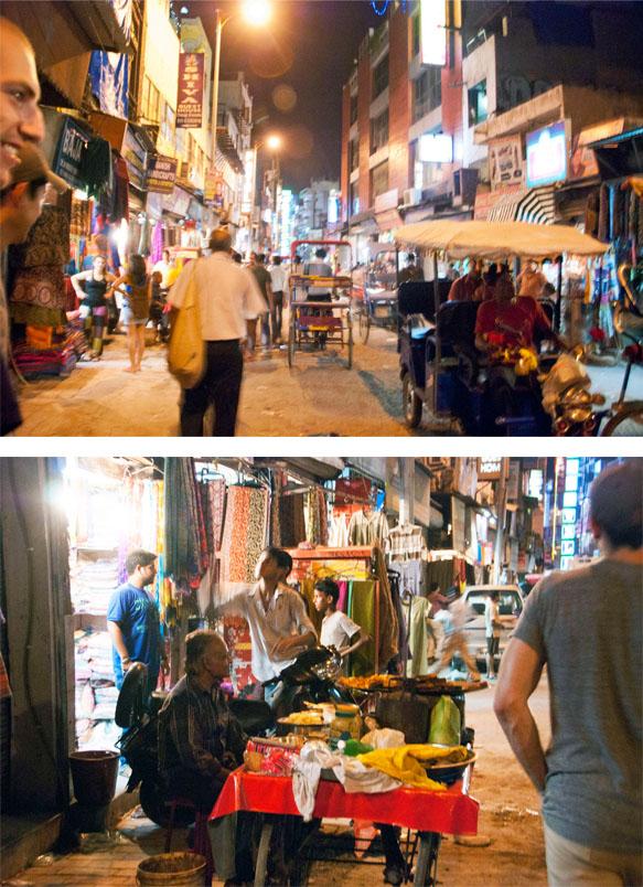 The Main Bazaar at Night