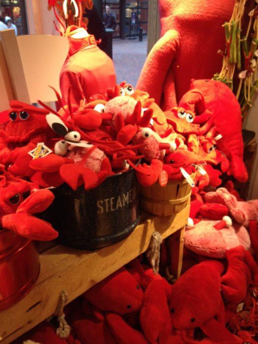 Quincy Market Lobsters, home of my plastic men