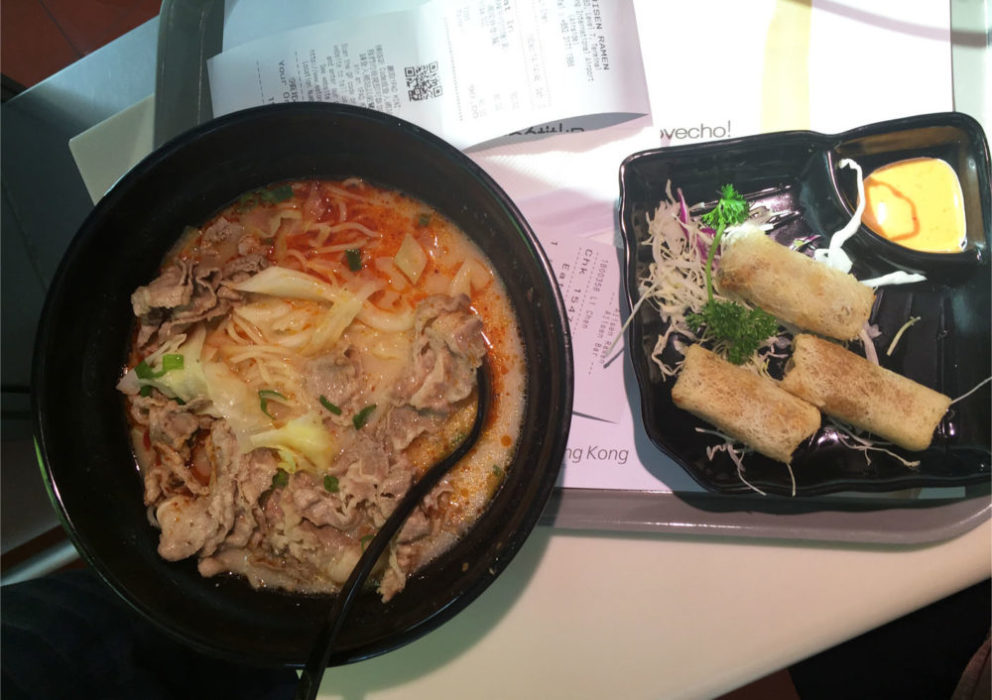 Eat airport ramen...on the way to Japan