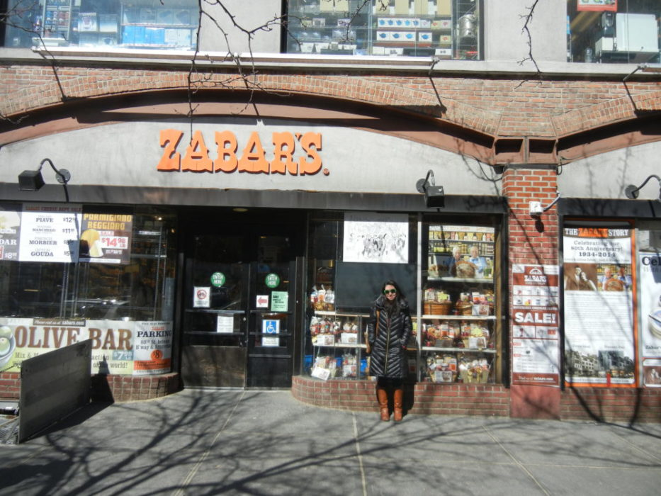 Zabar's salmon and cheese selection is unbeatable