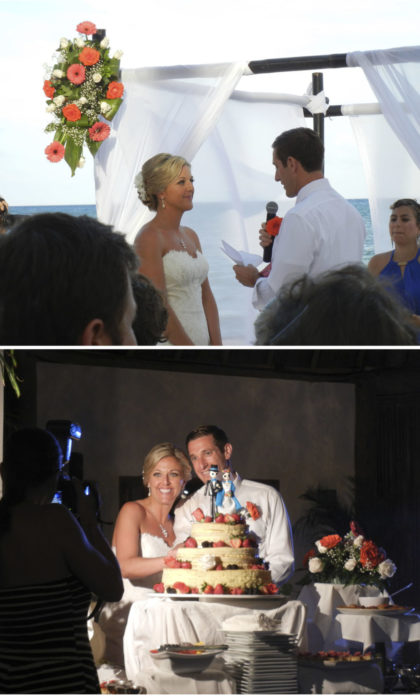 Before/After, officially married!
