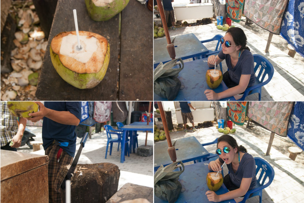 On the way back we made sure to stop for some coconut