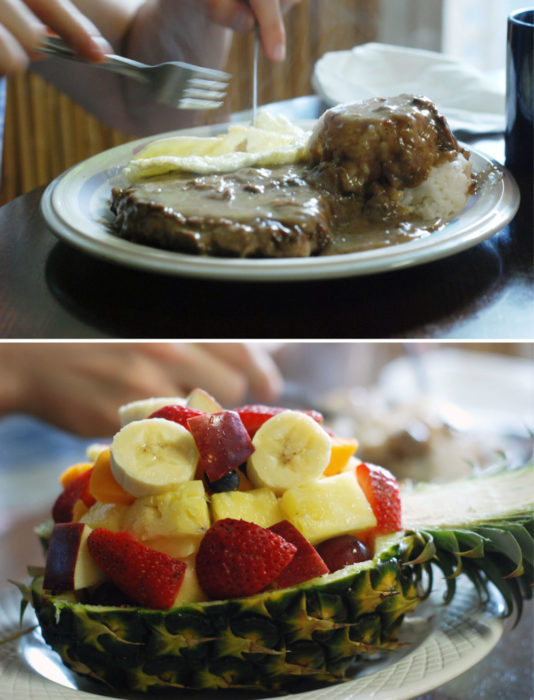 Deconstructed Loco MOco and a fruit...bowl?