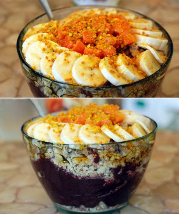 Mmm Acaiiii bowl with bee pollen