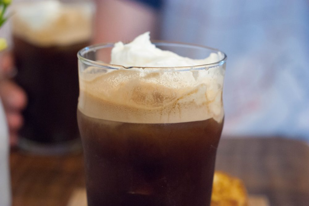 Espresso, Sparkling Water and Whipped Cream