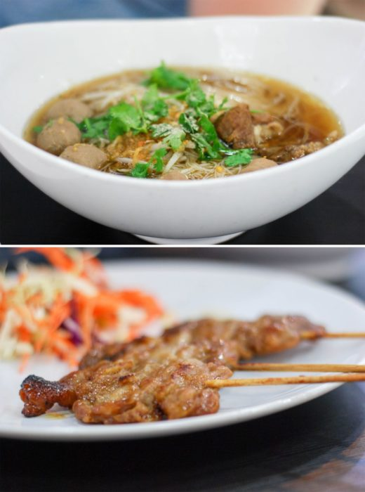 Noodles and Satay