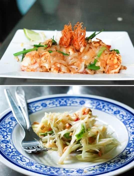 Pad Thai and Green Mango Salad (not papaya)