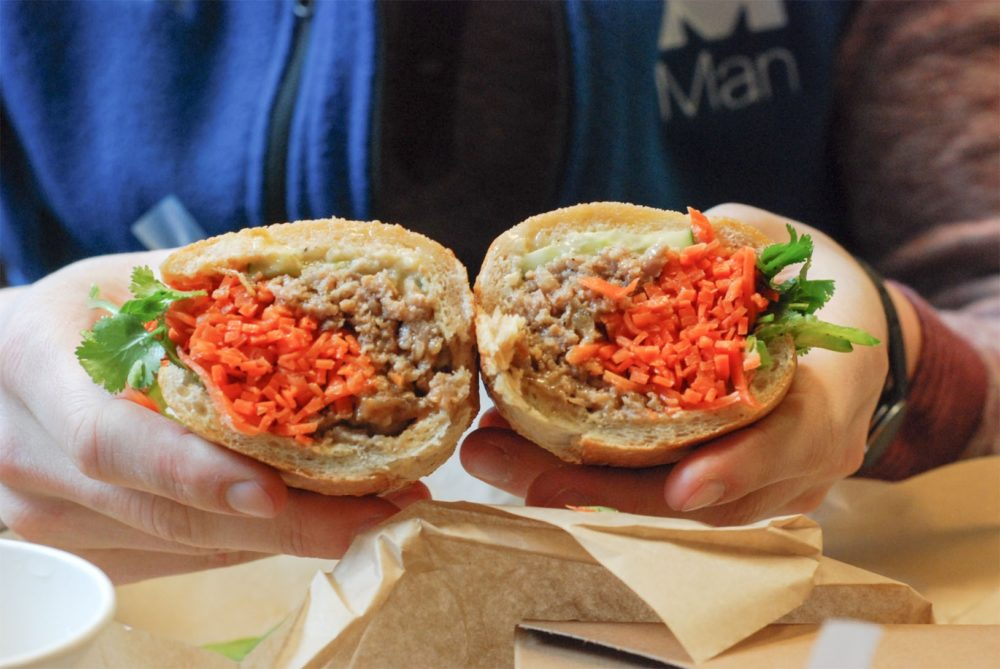 Or more of a meatball banh mi