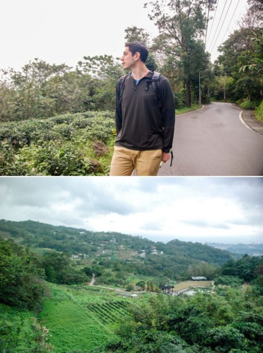 And took a picture of course overlooking some tea farms