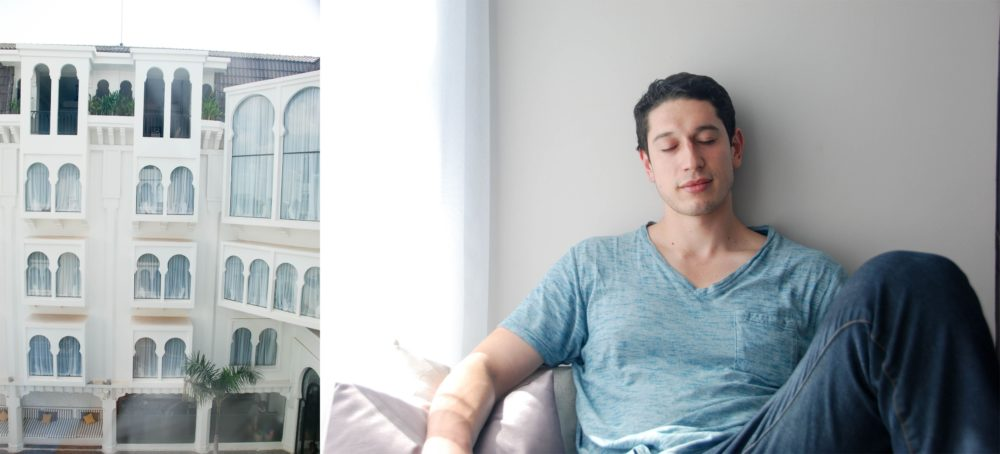 Ben appreciating the air conditioning