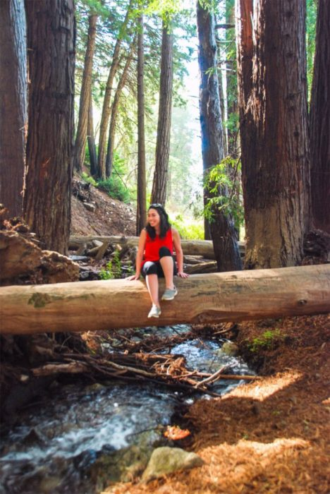 Ben took this picture of me after I climbed on this log