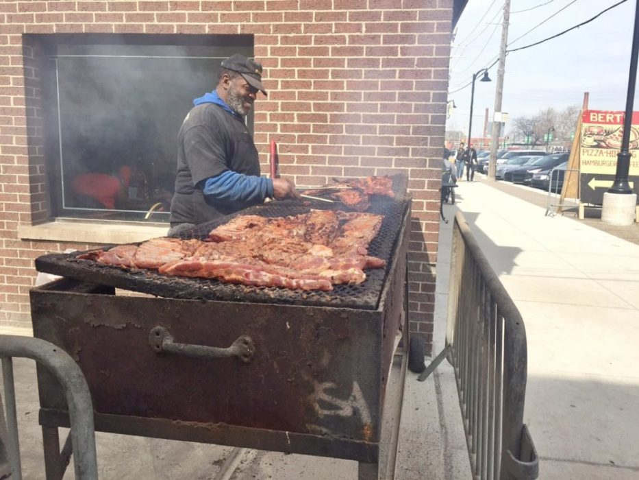 The BBQ joint we regret most for not trying, just outside Shed 3 at Eastern Market.