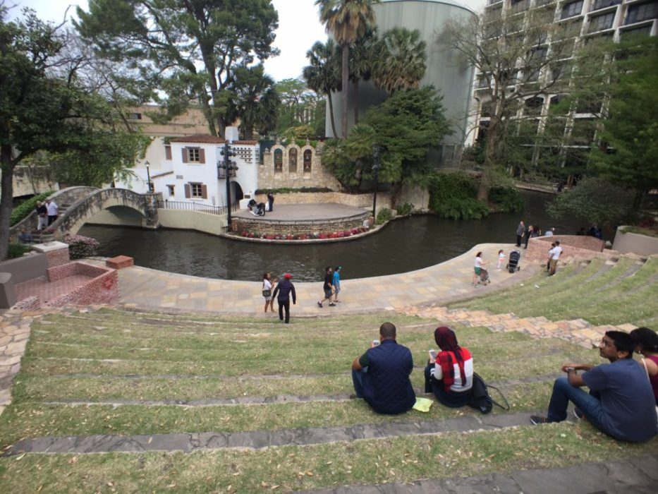 Amphitheater by the waterway