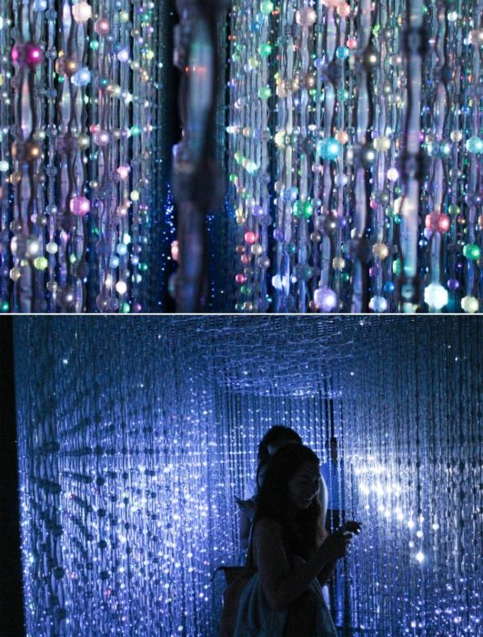 """The crystal room is the best exhibit at Pace. You go to the mobile site and pick colors of the stars you want to """"send into space"""" making all the colors change."""