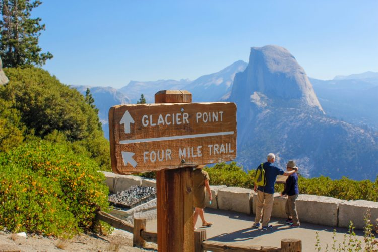 Made it back to Glacier point where I drank about a gallon of water.