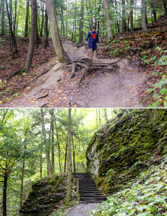 Finally our hike turned into a stairmaster endurance test