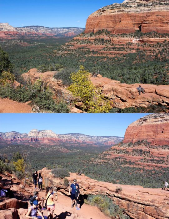 """Finally, tier 2 aka Devil's bridge. As we went up, one man shouted """"only a half mile til you see the devil!"""" He was right."""