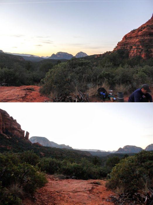 The sun set over the canyons and we were lucky enough to be on an elevated spot in the middle.
